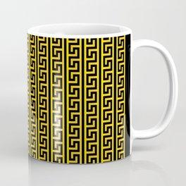 Greek Key Full - Gold and Black Coffee Mug