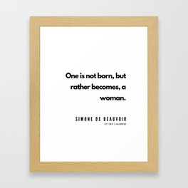5     | Simone De Beauvoir Quotes | 190605 Framed Art Print