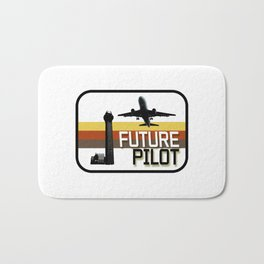 Future Airplane Pilot Bath Mat