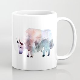 Wild yak / Abstract animal portrait. Coffee Mug