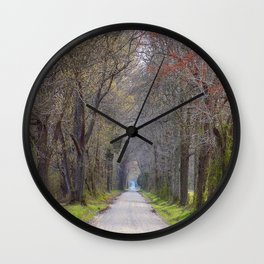 Parting of the trees Wall Clock
