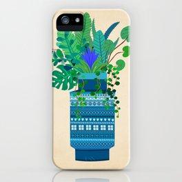 Big Bitossi vase with greenery iPhone Case