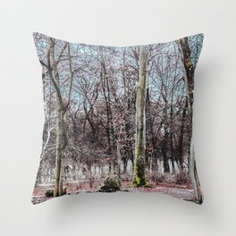 Red leaves and freckles. Can I call you redheads, dear trees? Throw Pillow