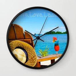 Beach bum: Live Love Laugh Wall Clock