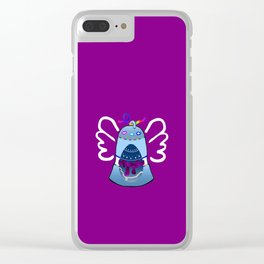 Bell on Purple Clear iPhone Case