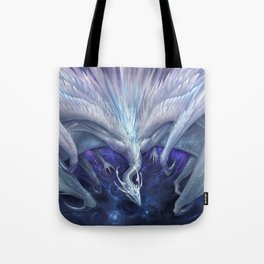 White Crystal Dragon Tote Bag