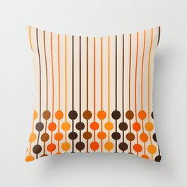 Golden Sixlet Throw Pillow