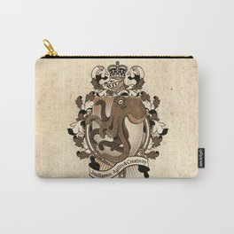 Octopus Coat Of Arms Heraldry Carry-All Pouch