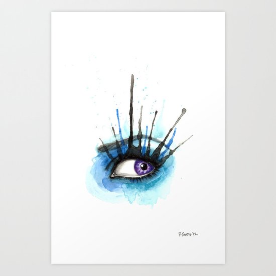 Splash Eye Art Print