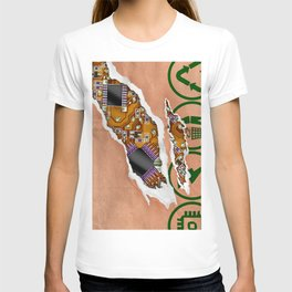 Ripped Paper Bag Circuit Board T-shirt