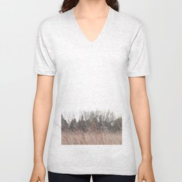 Prarie grass Nose Hill Unisex V-Neck