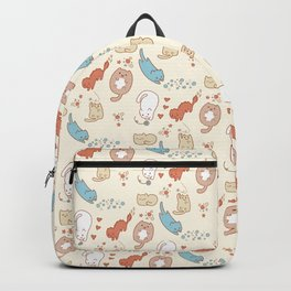 Seven cute cats. Backpack