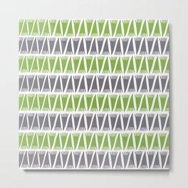 Tee Pee Greenery Metal Print