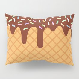 waffles with flowing chocolate sauce and sprinkles Pillow Sham