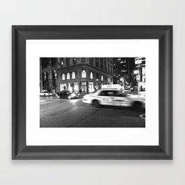Cab City Noir Framed Art Print