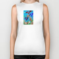 theatre Biker Tanks featuring The Dragon Theatre by Kookyphotography