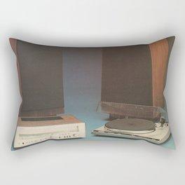Vintage 1970's HiFi 2 Rectangular Pillow