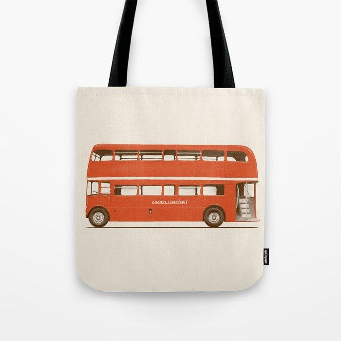 Red London Bus Tote Bag