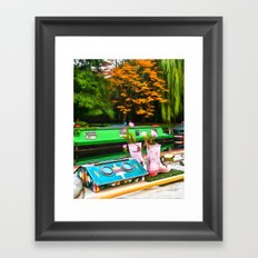Colors On A Canal London Framed Art Print