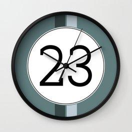Rally 23 Wall Clock