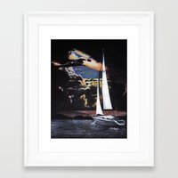 sailboat Framed Art Prints featuring Sailboat by Madison Apple