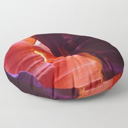 Mystical and Mysterious Antelope Slot Canyon Floor Pillow