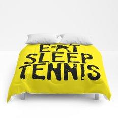 Eat Sleep Tennis Comforters