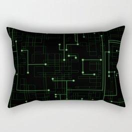 Electric Maze Rectangular Pillow