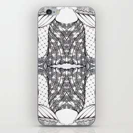 Black and White Zen Doodle 3 iPhone Skin
