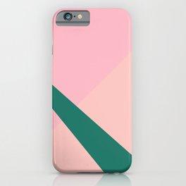 Colorful geometric design iPhone Case
