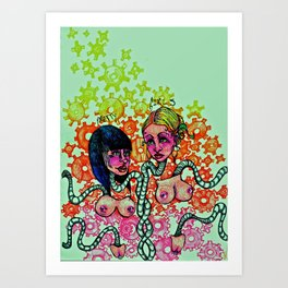 Pretty girls Art Print
