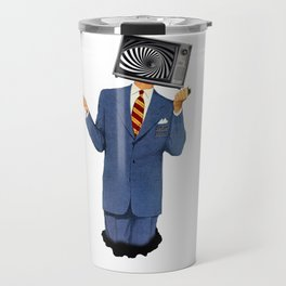 Retro Tv Man Travel Mug