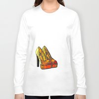 shoe Long Sleeve T-shirts featuring Shoe 3 by AstridJN