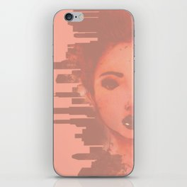 Girl Meets the Big City iPhone Skin