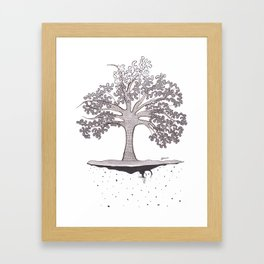 External tree Framed Art Print