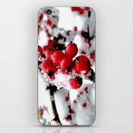 Bright Red Berries iPhone Skin
