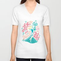 risa rodil V-neck T-shirts featuring Snow Queen by Risa Rodil
