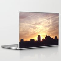nashville Laptop & iPad Skins featuring Nashville Skyline by  Dreambox Designs