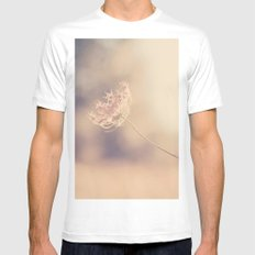 Alone White MEDIUM Mens Fitted Tee