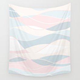 Summer Surf // Beach Waves Light Pastel Peach Blush Aqua Ocean Tides Vintage Surfing Vibes Wall Tapestry