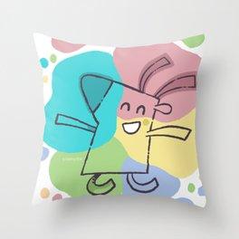Color Dream Throw Pillow