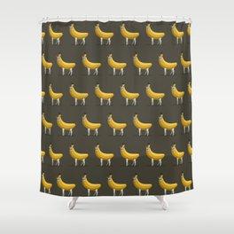 Bananas About Llamas Pattern Shower Curtain