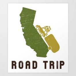 California Camping Road Trip Art Print