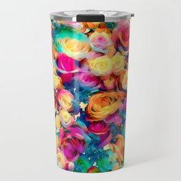 Dazzling Roses Travel Mug