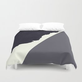 Contemporary Minimalistic Black and White Art Duvet Cover