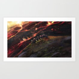 The last tribe Art Print