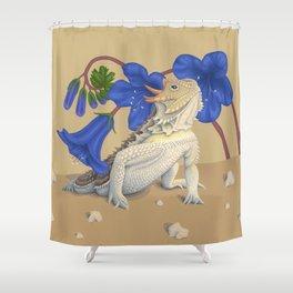 Coast Horned Lizard Shower Curtain