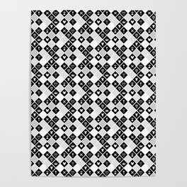 Kingdom Hearts III - Pattern - White Poster