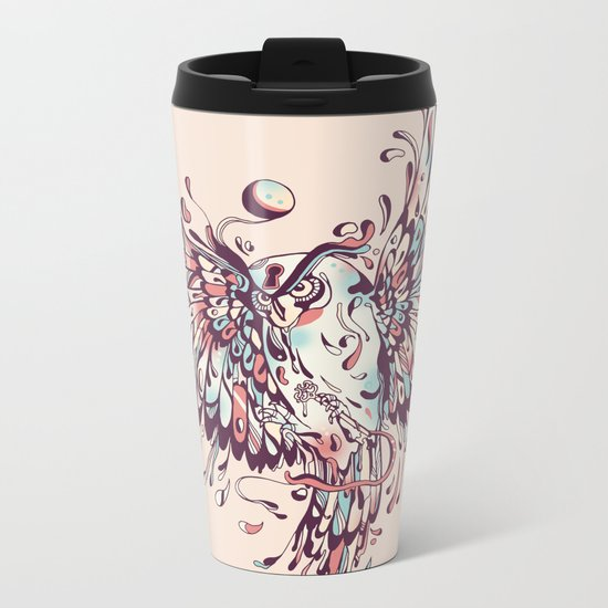 The Wisdoms and Wonderings of a Wide-Eyed Wanderer Metal Travel Mug