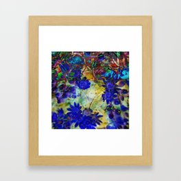Ice Flowers Framed Art Print